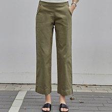 韓國精品 炭灰色彈性牛仔寬管八分褲