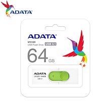 [原廠保固] UV320 清新白/綠 64GB USB3.1 伸縮接頭 高速隨身碟 (AD-UV320W-64G)