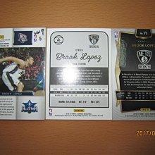 網拍讀賣~Brook Lopez~湖人隊球星~羅培茲~RC挑戰賽球衣卡~亮卡~普特卡~共3張~120元~輕鬆付~非常少見