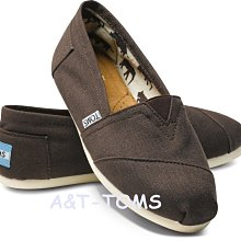 ☆╮A&T-TOMS╭☆專賣美國品牌TOMS帆布鞋Classics Canvas情侶鞋基本款【巧克力色】