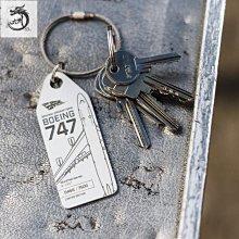 九州動漫 德國AviationTag 鑰匙扣行李牌 漢莎波音747空客320飛機蒙皮掛件