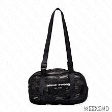 【WEEKEND】 ALEXANDER WANG Mini Wangsport 迷你 網狀 旅行包 黑色