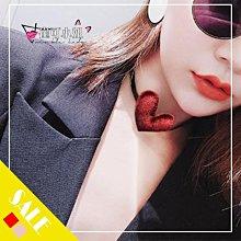 『現貨』歐美 Fashion model style 簡約絲絨面愛心復古頸鍊 長繩項鍊【YD0043】- 崔可小姐