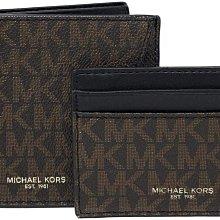 (雅峰精品) MICHAEL KORS禮品套裝36H9LGFF7B短夾及名片夾 深咖啡色