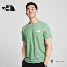 -滿3000免運-[雙和專賣店] The North Face 男 圓領快乾短袖T恤/4UAK/麻綠