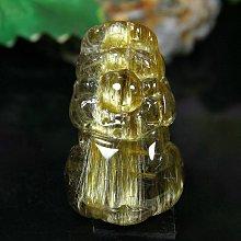 孟宸水晶 = S435 (貔貅100%天然粗版鈦晶雕刻墜)