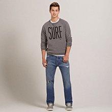 帥!美國男裝Hollister Classic Straight Jeans 32x32 經典直統破破刷牛仔褲含運 在台
