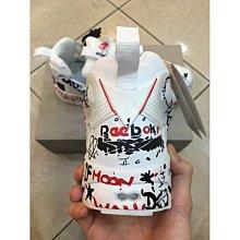 Vetements x Reebok Fury Pump 塗鴉 白 氣墊 滿版 潮流時尚 慢跑  情侶鞋 男鞋 女鞋