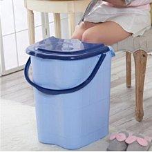 {興達1760}天藍色泡腳桶帶蓋亞克力加大加高洗腳桶足浴盆洗腳盆足浴桶TCQ