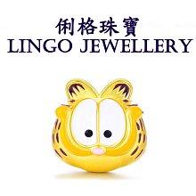 俐格珠寶批發 純金9999 黃金貓  純金小貓 黃金串珠手鍊項鍊配件 款號GD2099