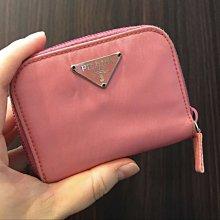(已售出✔)PRADA 卡片零錢包 零錢夾 卡夾 粉色 八成五新 正品