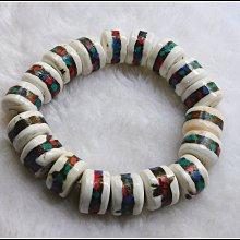 【雅之賞 佛教 藏傳文物】特賣*尼泊爾 天然老硨磲16-16.5mm手珠~043032