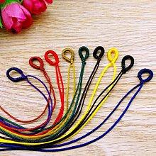 【螢螢傢飾】◎10入裝 ◎◎ 項練繩,儉約結飾,中國結繞線圈掛繩 手工編織拉圈開口線圈自製項鏈手鏈吊墜掛繩飾品配件