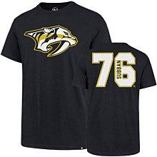 NHL納什維爾掠奪者隊 短袖T恤【XL】官方授權 Nashville Predators Subban 海軍藍色