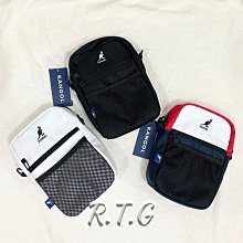 【RTG】特價 KANGOL 側背包 拉鍊 網格 多夾層 黑 6025301320 白黑 300 藍白紅 342 現貨