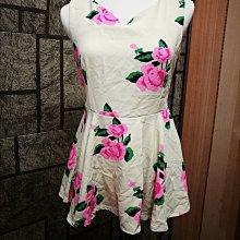 浪漫玫瑰 駝色 洋裝