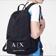 100%美國真品 AX 阿曼尼 A|X Armani Exchange backpack 黑色 防水肩背包 拉鍊 後背包