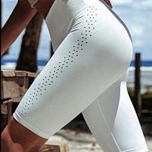 愛運動~高腰健身運動休閒五分褲/彈力收腹提臀修身顯瘦排汗透氣速乾/跑步訓練運動緊身短褲 R3221