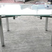 樂居二手家具館 全新中古傢俱賣場 E-659*庫存玻璃餐桌 會議桌 洽談桌*2手桌椅便宜賣 電腦桌 戶外休閒桌 會議桌椅