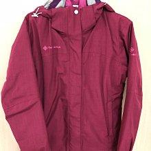 現貨酒紫紅色桃紅色兩件式羽絨防風外套防潑水透氣防曬飛行高領立領歐洲旅遊保暖鴨絨雪衣內裏輕量雙層加厚柔軟登山滑雪帽子