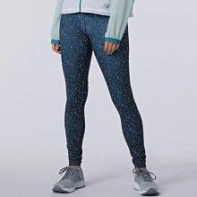 ※EP※New Balance Impact Run 緊身 透氣 滿版 印花 女裝 長褲 藍 WP11264MTL