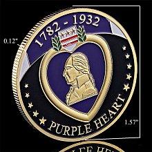 古玩收藏~Purple Heart紫心勛章軍事軍功紀念章獎章紫心紀念幣紫色創意禮物