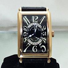 順利當舖  Franck Muller/法蘭克穆勒 新款45*32mm大錶徑18K玫瑰金兩段式逆跳迴轉自動男錶