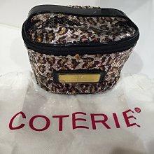 Coterie collection 豹紋亮片 化妝包 2色