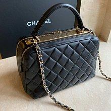 Chanel 全新 化妝箱 保齡球包 季節款 化妝包 香奈兒 台灣專櫃親自購入