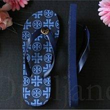 Tory Burch Shoes藍色輕便平底鞋 人字夾腳鞋涼鞋子海灘鞋 拖鞋 6.5/7 7.5/8號 愛Coach包包