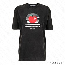 【WEEKEND】 ALEXANDER WANG Apple 蘋果 短袖 上衣 T恤 黑色