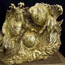 亂太郎***** 黃金樟瘤 木雕    富貴有魚