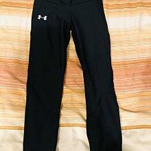 UA 基本款七分彈性斜口運動褲 瑜珈 健身 S