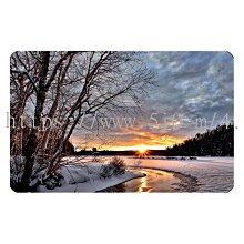 〈亮晶細沙 卡貼 貼紙〉冬天 風景 winter landscape  貼紙 悠遊卡貼紙