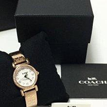 COACH 不銹鋼錶帶 石英 女錶