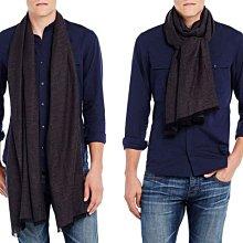 全新真品最佳送禮 A|X Armani Exchange AX 阿曼尼黑色亞麻/棉柔軟長型圍巾 免運費非OUTLET商品