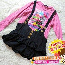 ❤厤庭童裝舖❤最後一件【E496】女孩假二件吊帶長版上衣/T恤(120CM)