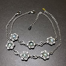 天然葡萄石手鍊 放光葡萄石925銀手鏈飾品配件《舒唯水晶》