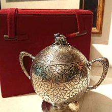 西風(((1873年古董(獎杯型)純銀茶葉罐或糖罐)))
