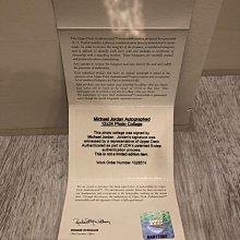 MJ買UDA官方認證最有保障~~Michael Jordan 大幅12x24裱框簽名海報(UDA Upper Deck Authentication)~~