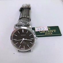 可議價 ORIENT東方錶 女 皮帶時尚黑面 石英腕錶 (S45WX33L) 27mm