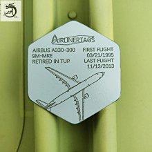 九州動漫 【清倉】AIRLINERTAGS 鑰匙扣馬來西亞 空客330 蒙皮紀念章行李牌