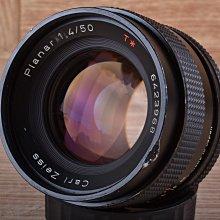 【品光攝影】Contax Planar 50mm F1.4 AEJ 定焦 T* 手動 CY接口 FH#56682