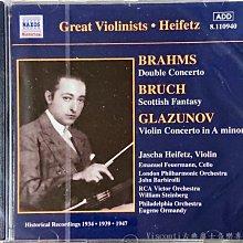 @【NAXOS】布拉姆斯:雙重協奏曲/布魯赫:蘇格蘭幻想曲/葛拉祖諾夫:小提琴協奏曲(海飛茲)