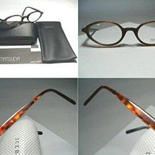 信義計劃眼鏡 絕版真品 Matsuda 松田眼鏡 日本製 琥珀玳瑁圓框 可配高度數小框 鋼鐵人 3 日本天皇御用品牌
