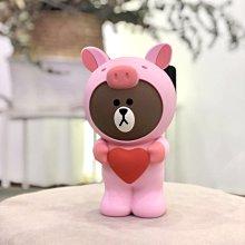 【現貨當日出】新款韓國豬豬熊大立體鉛筆盒 布朗熊 Line Friends 可妮兔 筆袋 模型 公仔 娃娃 化妝包