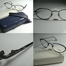信義計劃 眼鏡 全新真品 Chloe 光學眼鏡 槍色水綠色小貓型框橢圓框 義大利製 eyeglasses