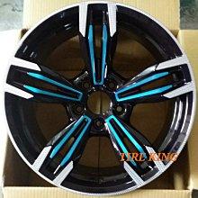 土城輪胎王 類 M6 18吋鋁圈 黑底車面+陽極藍 5/108 5/114.3 5/120 8.5J