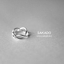 925純銀戒指-阪堂SAKADO-韓版設計師款--波浪開口戒(尺寸可調)