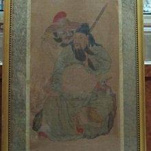 古藝閣  明代  著名畫 家 商喜惟吉繪   關聖帝君